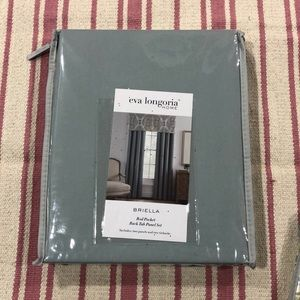 NWT Eva Longoria Home: Two Curtin Panels & Valance
